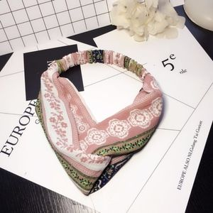 Accessories - Vintage Boho floral Cross scarf hair head bandana